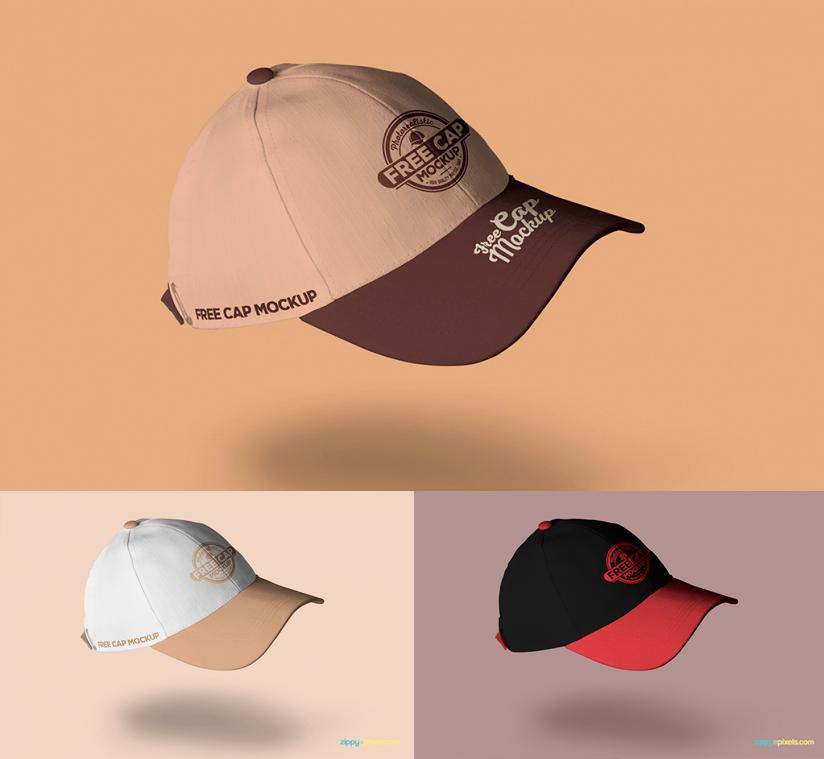 MockUps de gorras deportivas bordadas e impresas