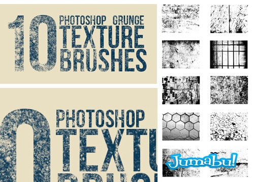 Brushes de Photoshop con Efecto Grunge en Alta Resolución