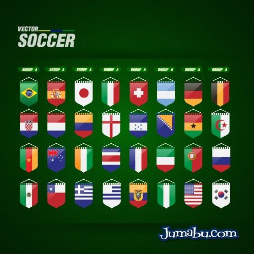 Grupos del Mundial de Fútbol Brasil 2014 en Vectores