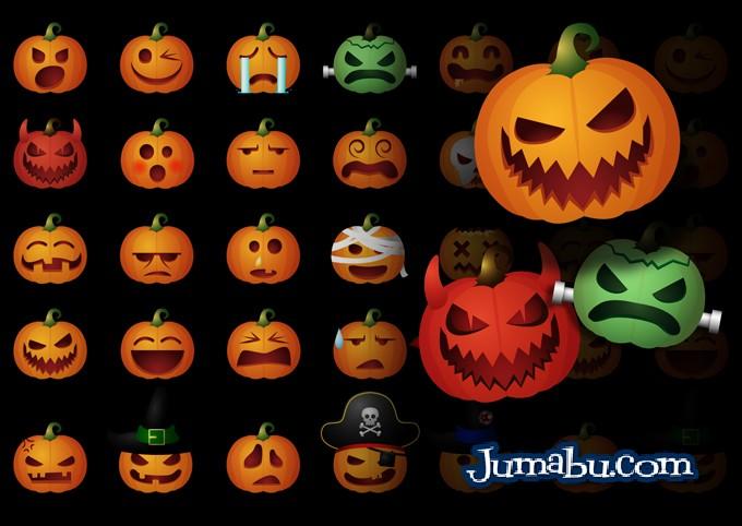 Calabazas en Vectores para Halloween