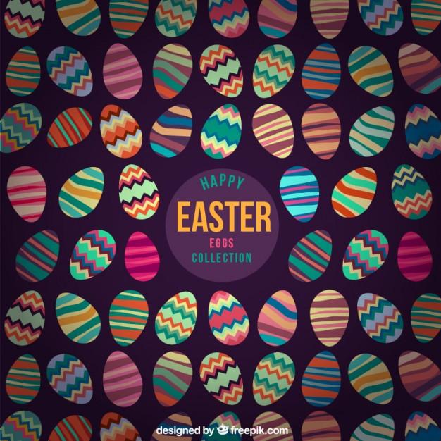 Diseños coloridos de huevos de pascua