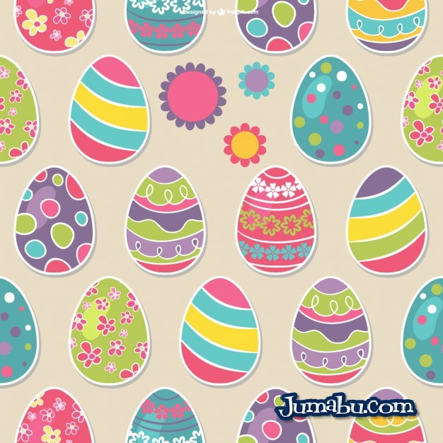 Huevos de Pascuas Coloridos en Vectores