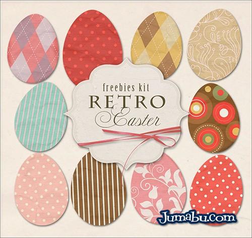 Pack de Imágenes de Huevos de Pascuas Retro