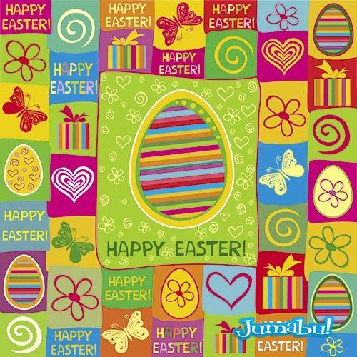 Coloridos Recursos de Huevos de Pascuas en Vectores
