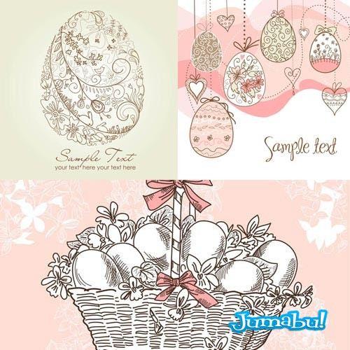 Huevos de Pascuas Ornamentales en Vectores