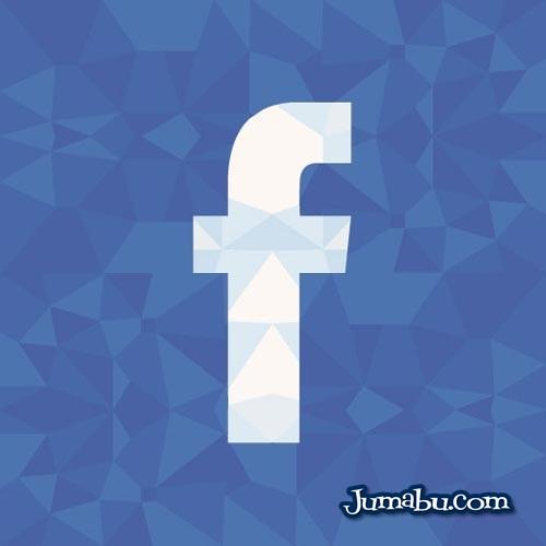 Icono de Facebook con Textura Poligonal en Vectores