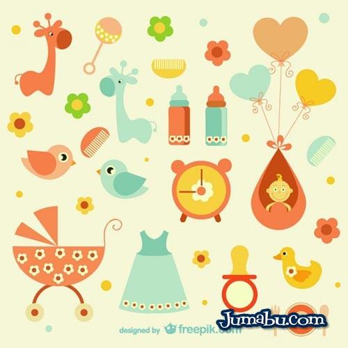 Iconos en Vectores para Bebes
