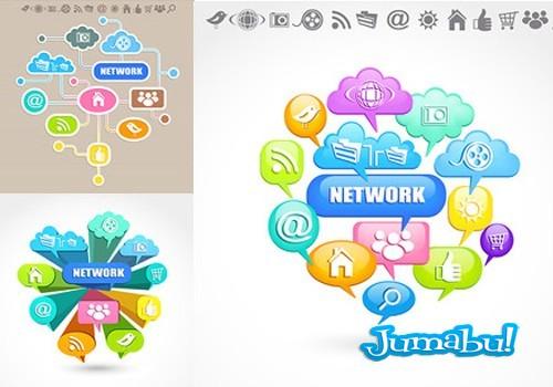 Iconos en Vectores de Redes y Conexiones