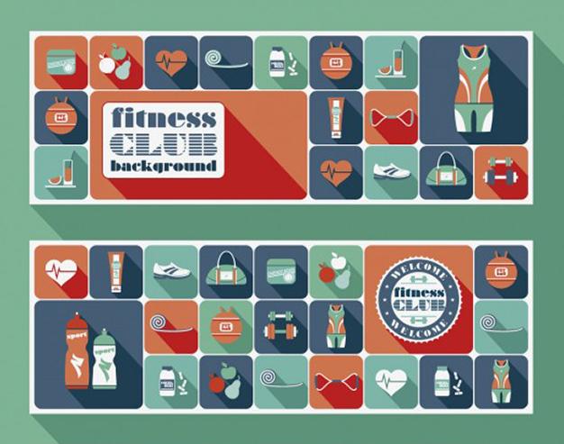 Iconos en Vectores Gratis para Gimnasio o Crossfit