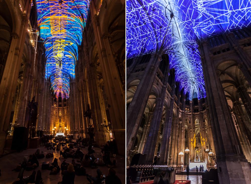 Video Mapping en Iglesia de París por el gran Miguel Chevalier