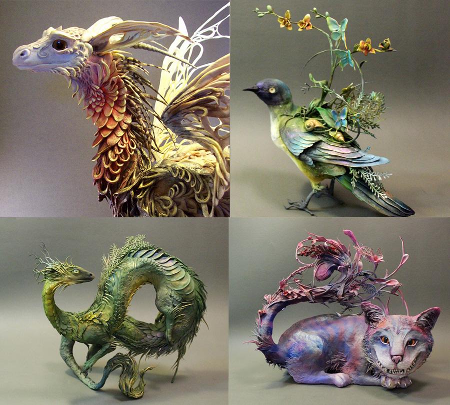 Espectaculares Esculturas de Animales por Ellen Jewett