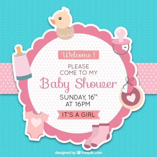 Diseño de invitación para babyshower
