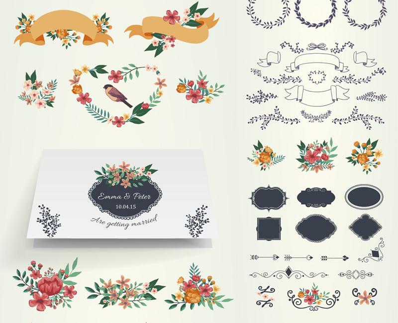 Material para Diseñar Invitaciones para Bodas