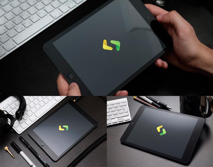 Mockup de iPad Negra para Descargar