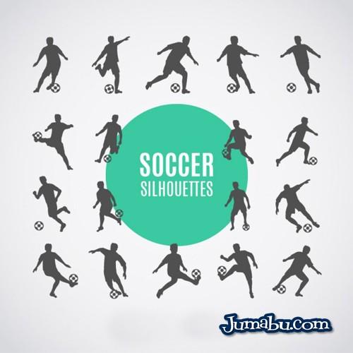 Siluetas de Jugadores de Fútbol en Vectores para Descargar