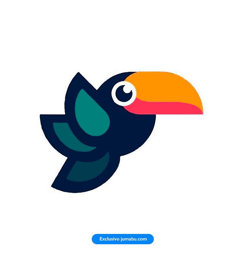Colorido tucán en vectores