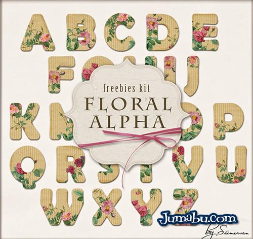 Letras Recortadas de Cartón con Flores en formatos PNG