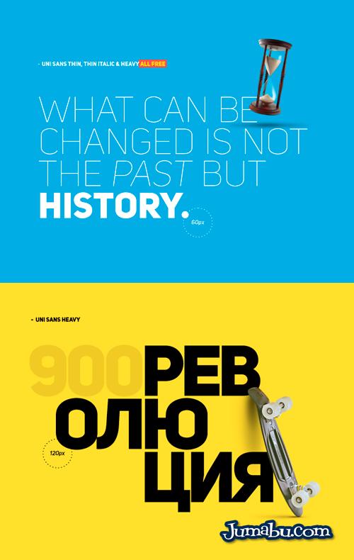 Tipografías Gratuitas Uni Sans Free