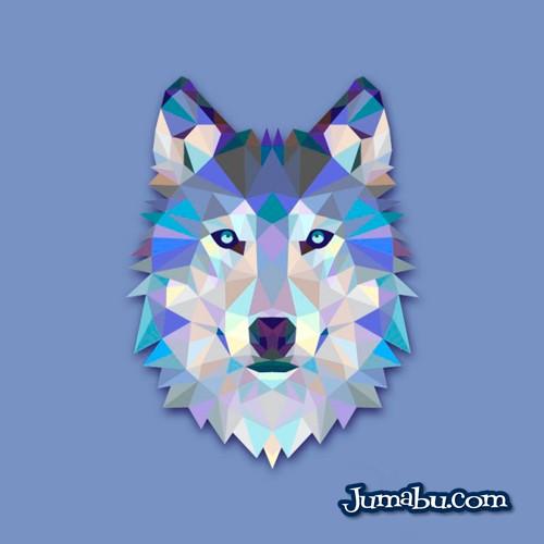Lobo Vectorizado con Textura Poligonal