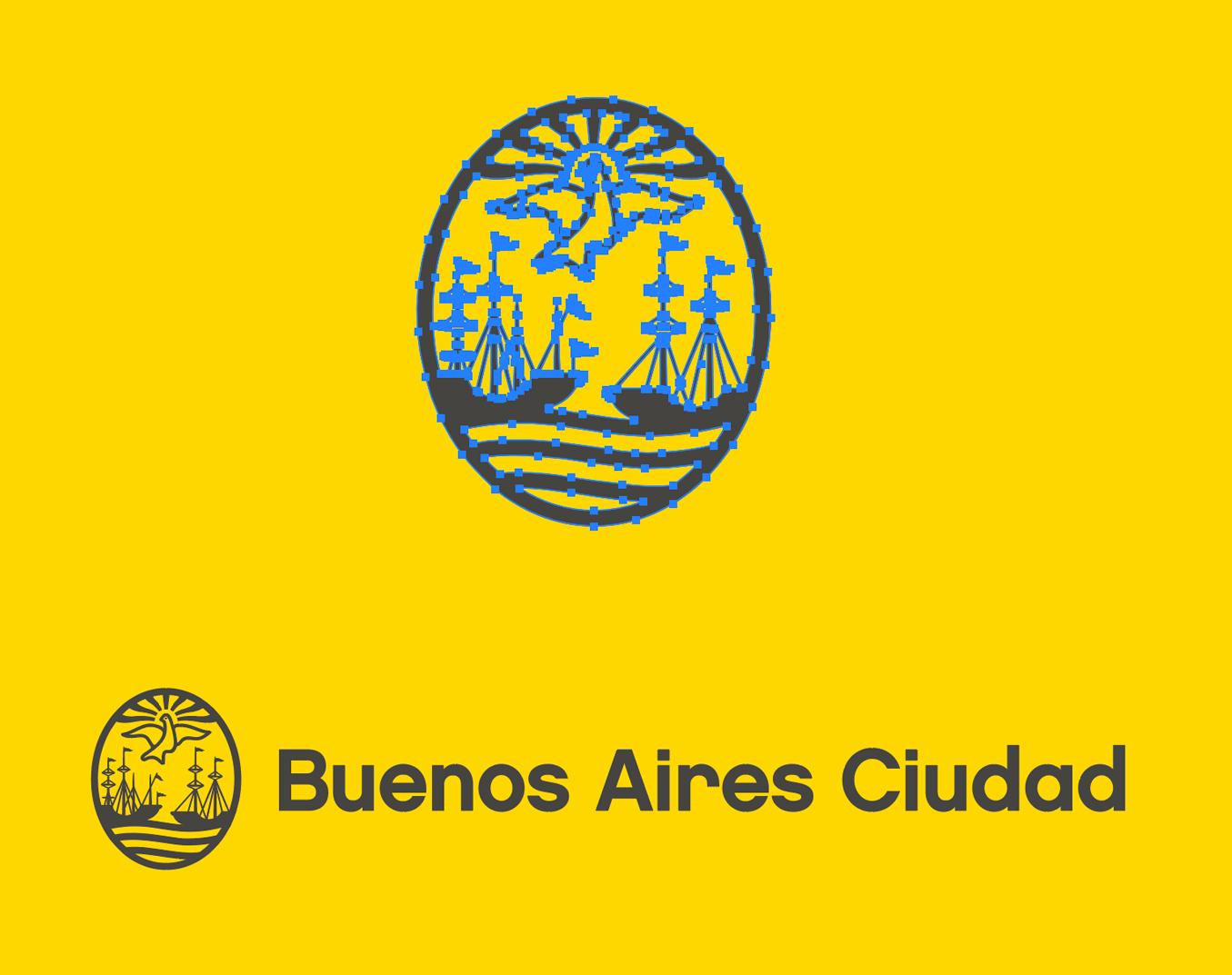 Logo Buenos Aires Ciudad en vectores