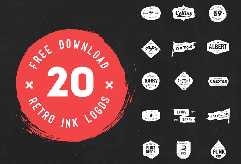 20 Diseños de Logos Gastados en Vectores