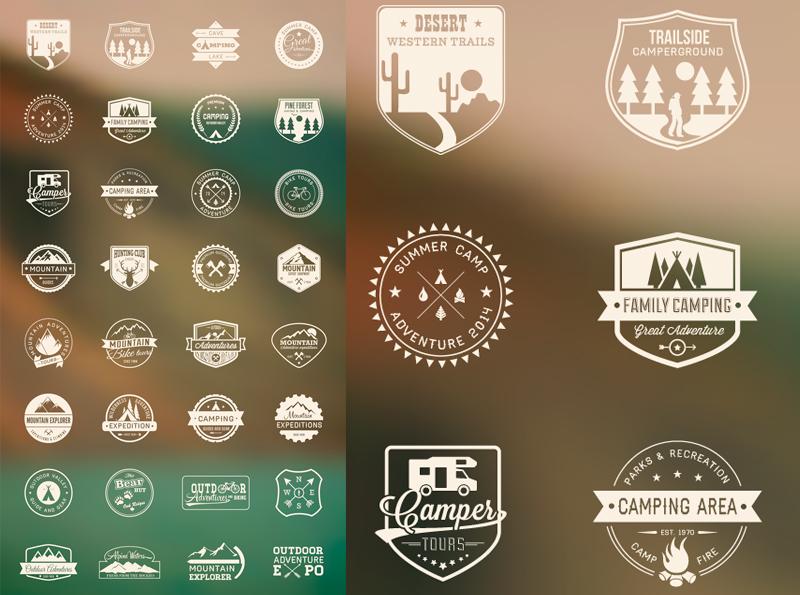 Logos Vintage en Vectores