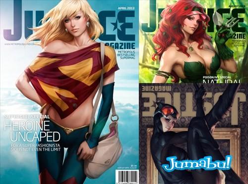 Las Heroinas de Marvell y DC son Tapas de Revista!