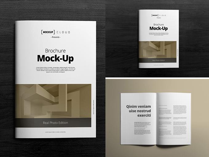 Maqueta de un Brochure para editar en Photoshop