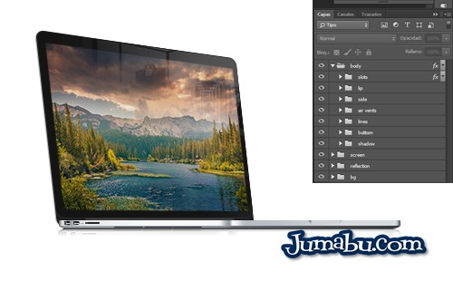 Mock Up Pantalla Retina en Photoshop