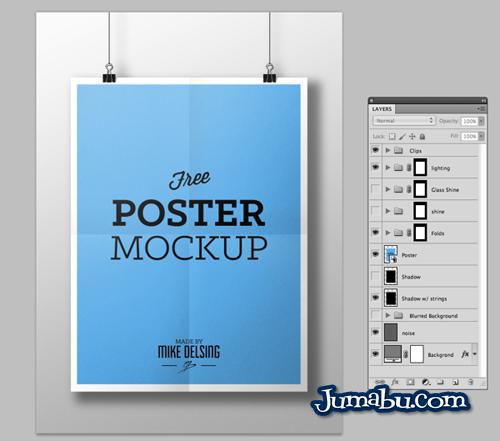 Poster Colgante Mock Up en PSD