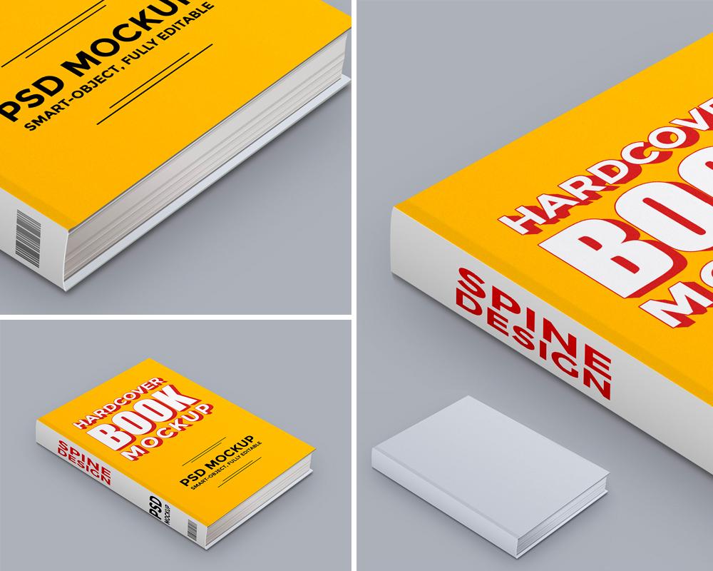MockUp de Libro Tapa Dura para Descargar