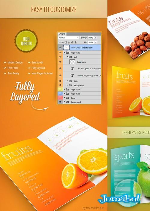 Mock Up Brochure o Carpeta de Presentación en PSD