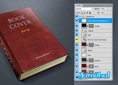 Mock Up Tapa de Libros en PSD