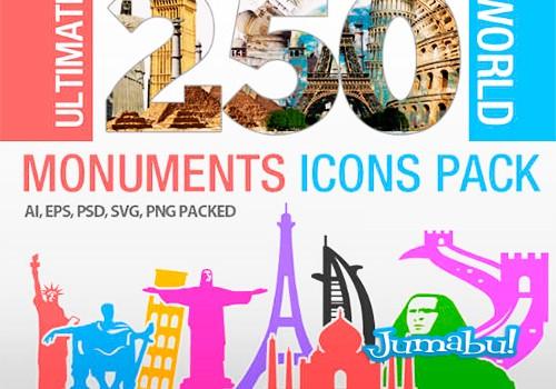 Monumentos de todo el Mundo en Vectores
