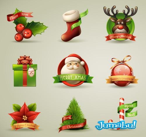 Excelentes Iconos Navideños en 3D Vectorizados