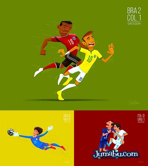 Dibujos del Mundial de Fútbol Brasil 2014