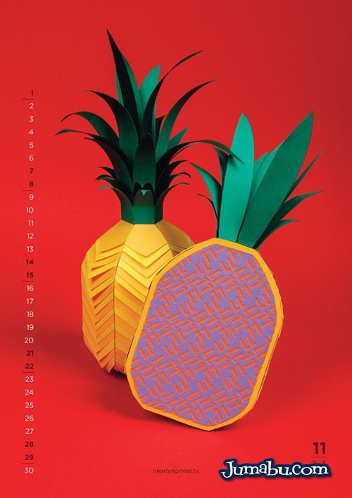 Calendario 2014 de Frutas y Verduras