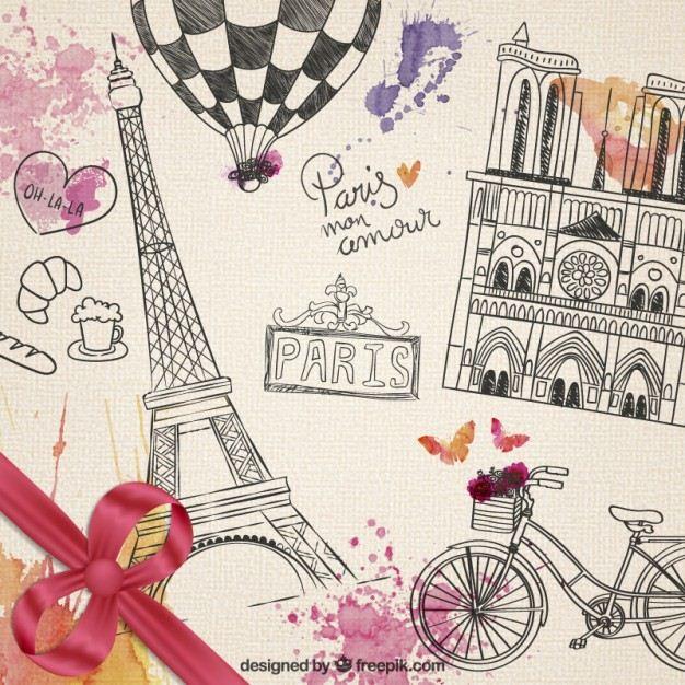 Descarga Gratis Vectores de Paris Vintage