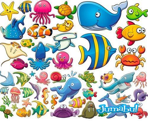 Personajes Bajo el Mar en Vectores