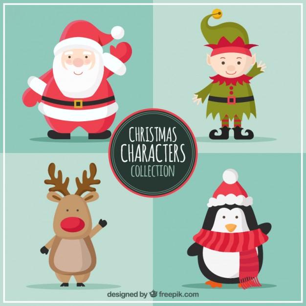 Personajes de Navidad en Vectores
