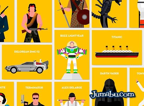 Personajes de Películas en Vectores Planos