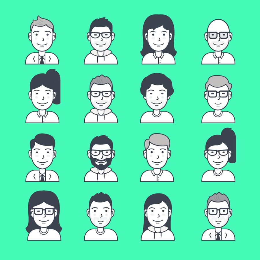 Personajes en vectores para descargar gratis