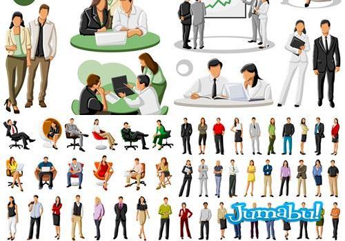 Dibujos en Vectores de Personas en Acciones de Oficina!