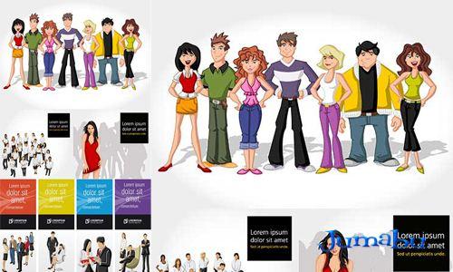 Grupo de Personas Dibujadas