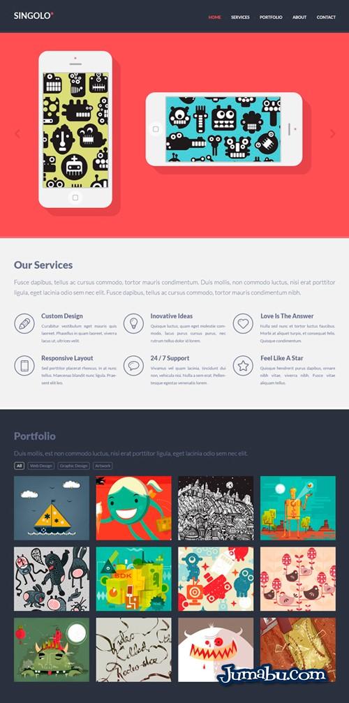 Plantilla Web Gratuita HTML + CSS + PSD
