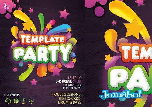 Invitación a Fiesta en PSD – Cartel -Flyer