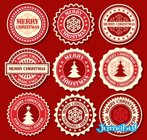 Etiquetas Navideñas en Vectores