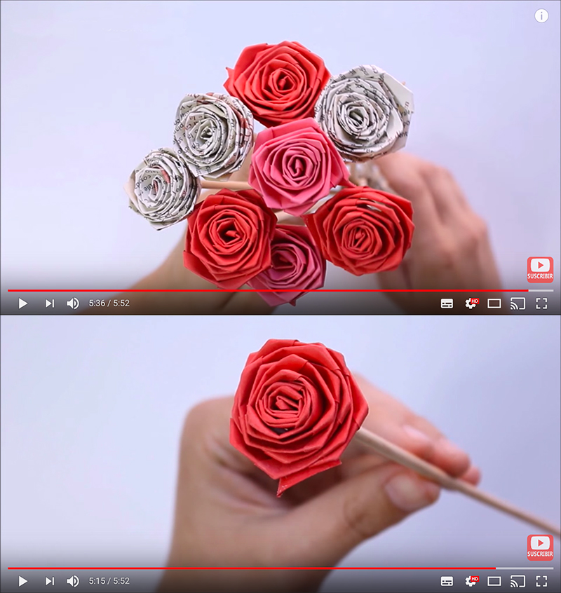 Elabora estas fantásticas rosas románticas de papel