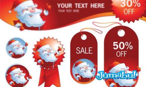 Vectores de Papá Noel