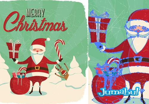Papá Noel en Vectores para Descargar